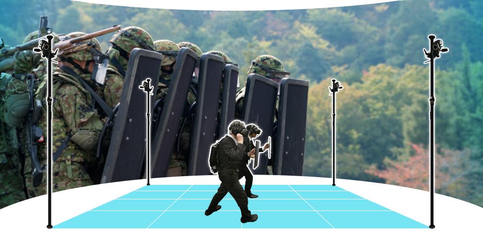 複数人参加型VR訓練システム 大規模訓練